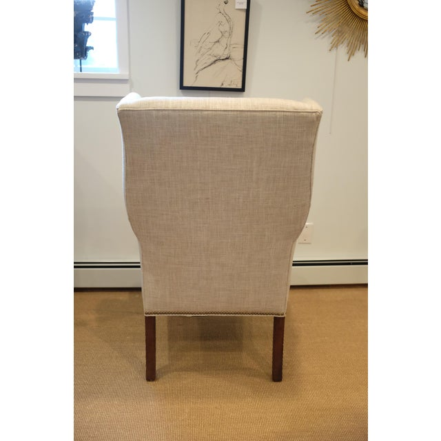 Century Furniture Hollywood Regency Century Wingback Chair For Sale - Image 4 of 11