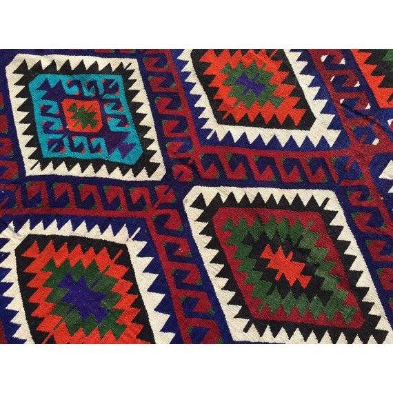 Vintage Turkish Kilim Rug - 6′2″ × 9′7″ For Sale - Image 5 of 6
