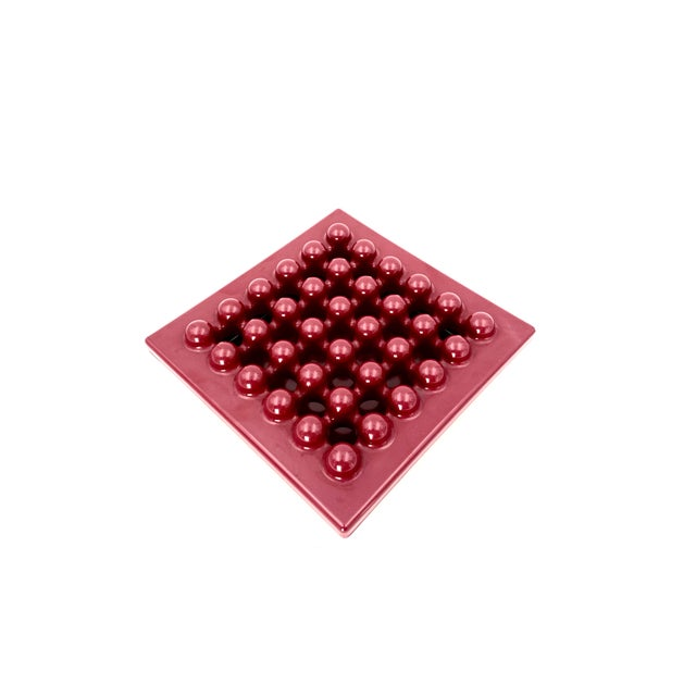 1971 Wine Red Ashtray by Ettore Sottsass for Olivetti Synthesis, Sistema 45 Series For Sale - Image 9 of 13