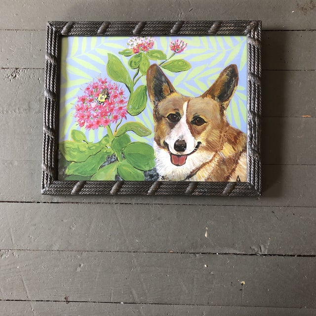 Corgie Dog Print by Contemporary Artist Judy Henn For Sale - Image 4 of 4