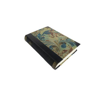 Antique Jacob Paludan Jørgen Stein Blue Marble Leather Bound Hardcover Book For Sale