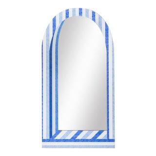 Fleur Home x Chairish Palm Orleans Cabana Stripe Tall Mirror For Sale