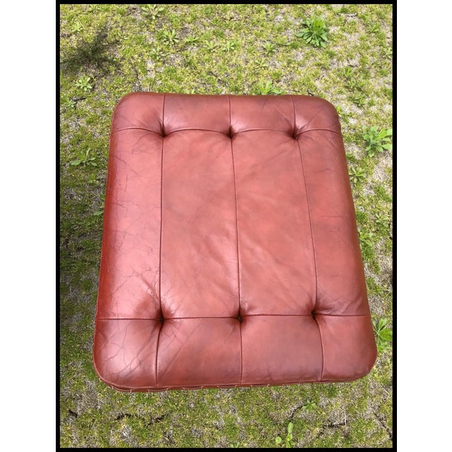 Rare Jean Gillon Rosewood Leather Lounge Chair Ottoman Probel Brazilian For Sale In New York - Image 6 of 11