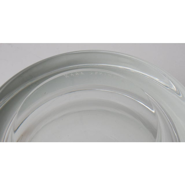 Karl Springer Signed for Venini Clear Murano Glass Dish Bowl For Sale In West Palm - Image 6 of 7