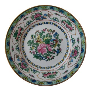 Chinoiserie Wall Plate With Butterflies