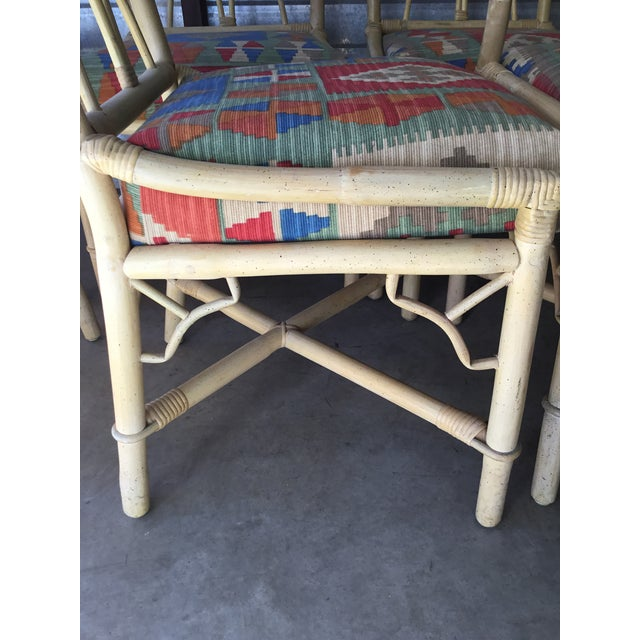 Bamboo Dining Chairs, Set of 6 For Sale In Providence - Image 6 of 8