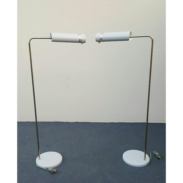 1960s Mid Century Rare Stylized Space Age Gerald Thurston Reading Floor Lamps - a Pair For Sale - Image 5 of 11
