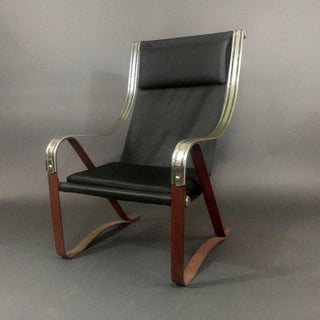 1930s Art Deco McKay Craft Leather and Steel Sling Chair Preview