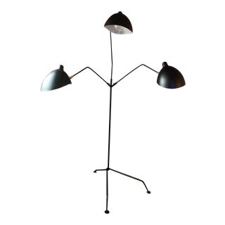Vintage Serge Mouille 3-Arm Floor Lamp For Sale