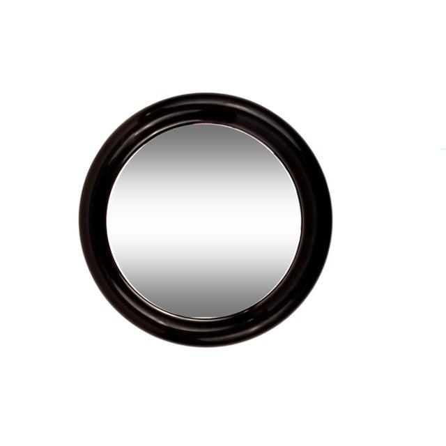 Interdesign Mod Black Plastic Round Mirror - Image 1 of 4