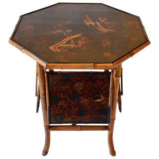 Chinoiserie Multi-Tiered Flip Top Tea Table For Sale