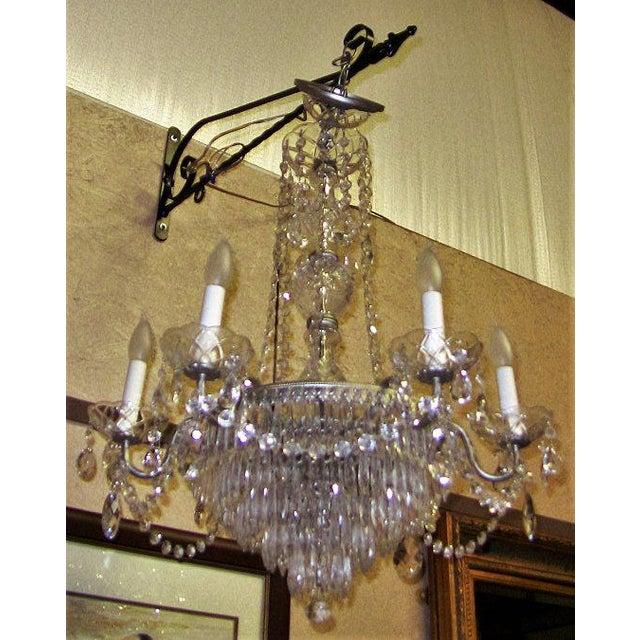 Swarovski Vintage Schonbek Crystal 6 Arm Chandelier For Sale - Image 4 of 9