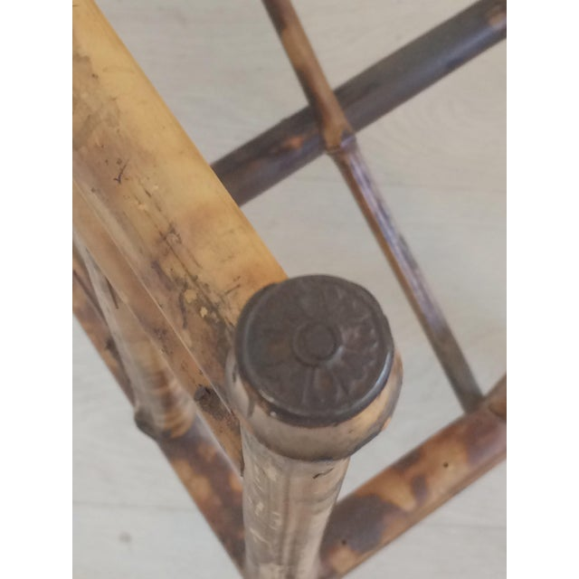 Late 19th Century 19th Century Boho Chic Bamboo Magazine Rack For Sale - Image 5 of 9