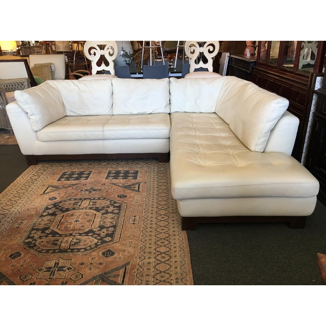 Design Plus Consignment Gallery presents a Roche Bobois Serenite Sectional designed by Giovanni Soressi. Luscious ivory...