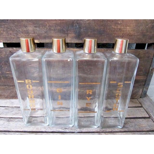 Vintage Mid-Century Liquor Decanters - Set of 4 - Image 5 of 6