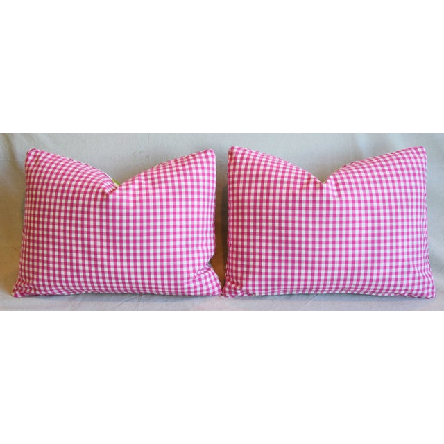 "French Manuel Canovas Floral Linen Feather/Down Pillows 22"" X 16"" - Pair For Sale - Image 10 of 13"