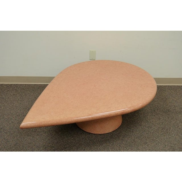Vintage Mid-Century Modern Hollywood Regency Pink Tear Rain Drop Coffee Table - Image 2 of 11