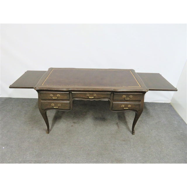Louis XV Leather Top Writing Desk For Sale In Philadelphia - Image 6 of 9