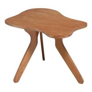José Zanine Caldas Free Form Plywood Coffee Table, Brazil, 1950s For Sale