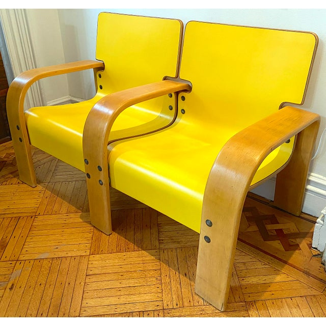 1960s 1960s Italian Modern Double Seat Bench For Sale - Image 5 of 11