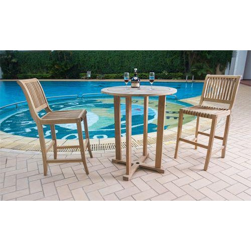 The Palm Teak Outdoor Bar Height Chair represents elegance in the outdoor space. Closely aligned slats are contoured in...