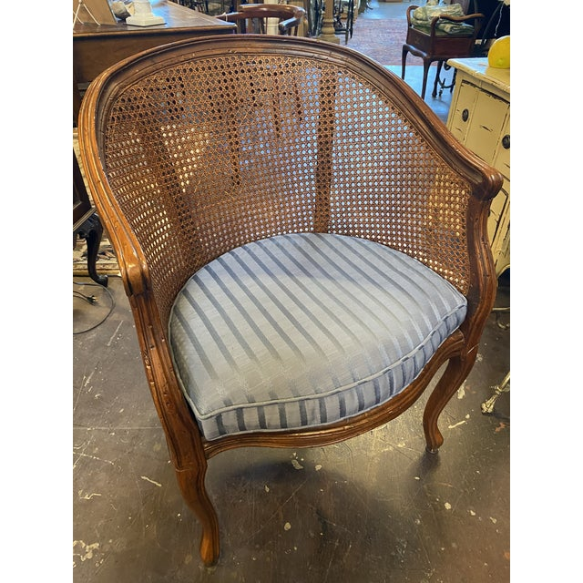 Hekman Furniture Hekman Sweet French Cane Chair With Pad For Sale - Image 4 of 4