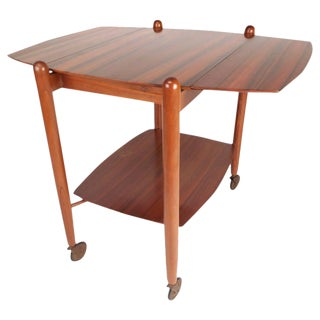 Vanson Mid-Century Drop-Leaf Bar Cart For Sale