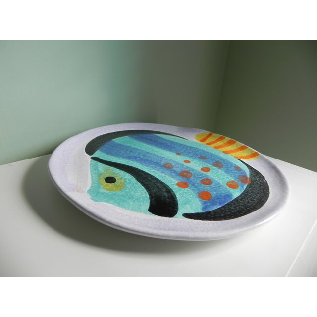 Italian Hand-Painted Fish Plate - Image 3 of 4