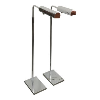 Koch and Lowy Metal Pharmacy Reading Lamps - a Pair For Sale