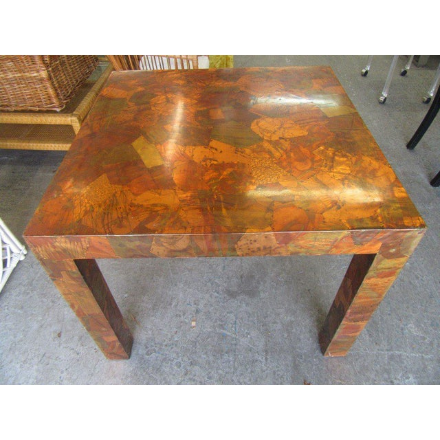 Late 20th Century Paul Evans Style Copper Game Table For Sale - Image 5 of 6