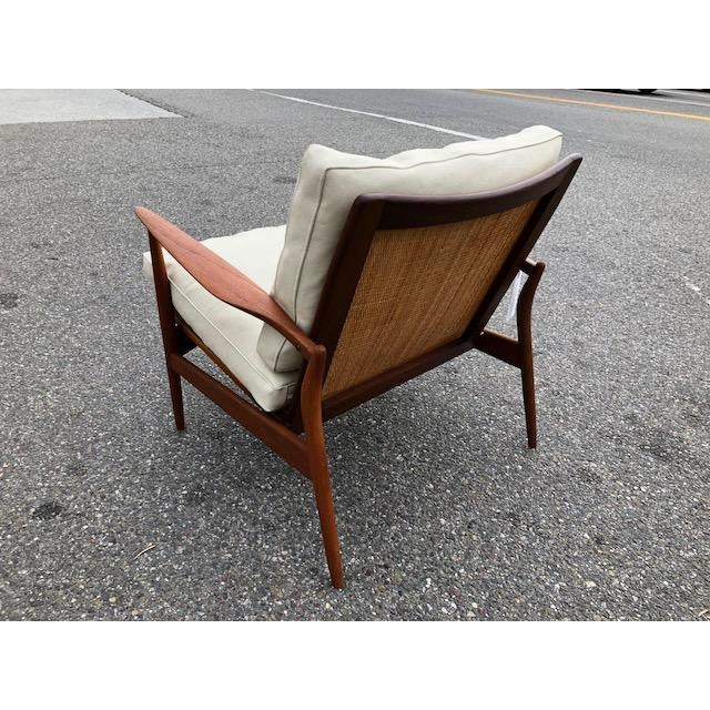 "A rare original danish teak ""Spear"" chair by Ib Kofod Larsen.In excellent restored condition with original canned..."