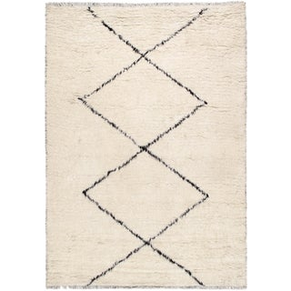 Pasargad Home Casablanca Collection Wool Area Rug - 6′ × 8′11″ For Sale