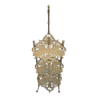 Early 20th Century Italian Victorian Art Nouveau Morphing Tiered Stand For Sale