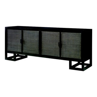 Century Furniture Mackinaw 4 Door Credenza, Mink Grey For Sale