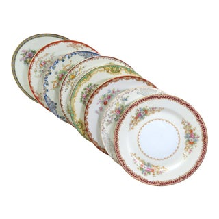 Vintage Mismatched Fine China Dessert Plates - Set of 8 For Sale