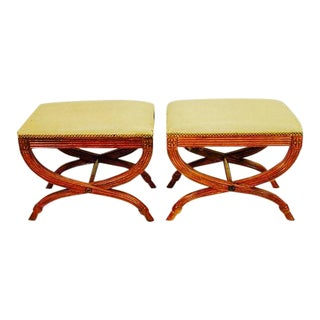 Neoclassical Stools by Baker Furniture - A Pair For Sale