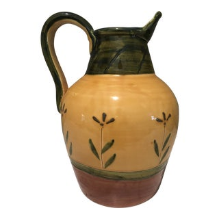 1990s Tutto Mio Italian Hand-Painted Ceramic Pitcher For Sale
