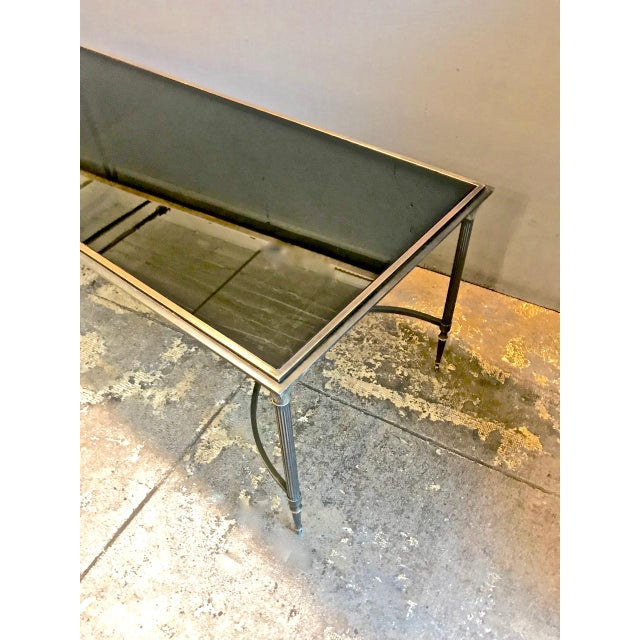 Art Deco Maison Bagues Bronze and Glass Coffee Table, C. 1950-60 For Sale - Image 3 of 9