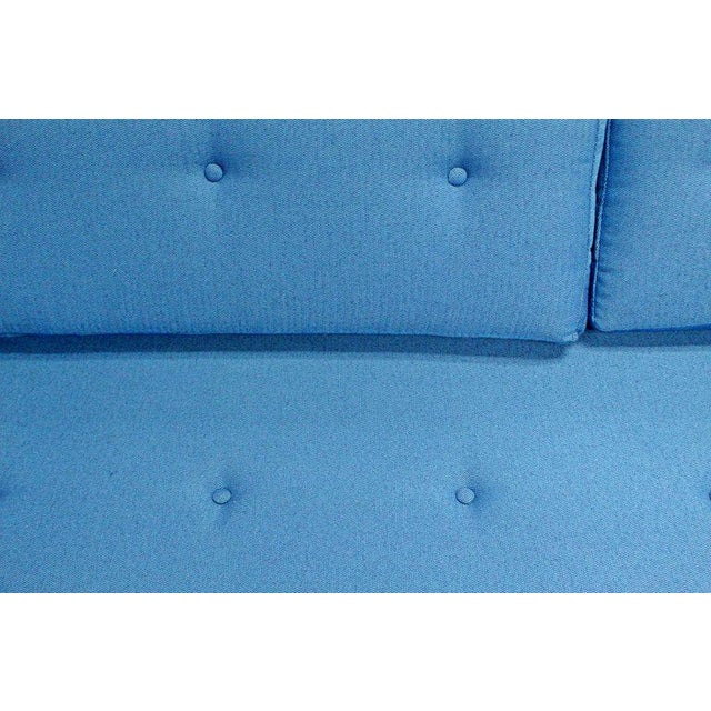 Mid 20th Century 1960s Mid-Century Modern Tufted Blue Sofa For Sale - Image 5 of 8