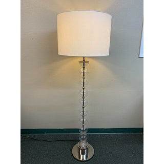 Contemporary Glass Orb Floor Lamp Preview