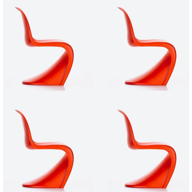 Verner Panton for Vitra Chairs- Set of 4 For Sale - Image 11 of 11