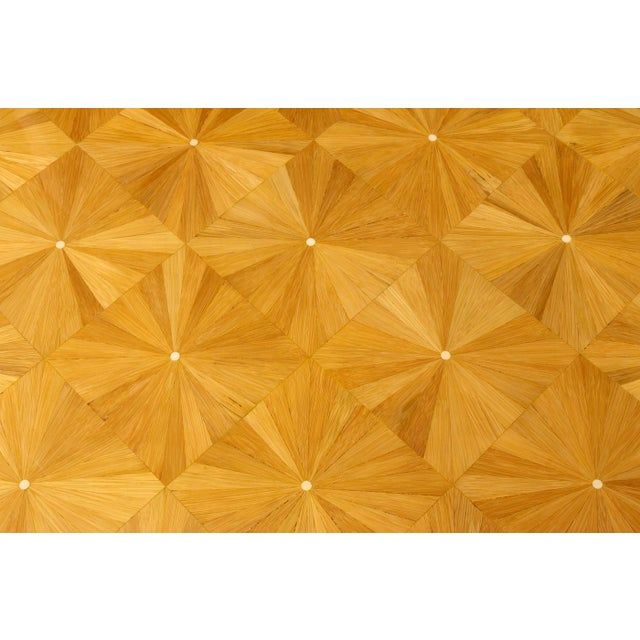 Ron Seff Starburst Bamboo Marquetry Cocktail Table ca. 1980 For Sale In New York - Image 6 of 10