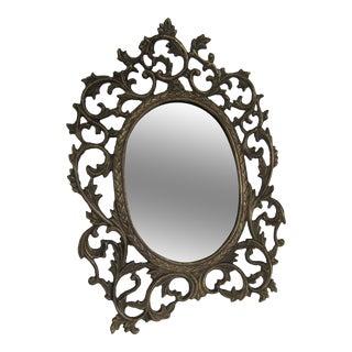 Brass Scroll Vanity Mirror