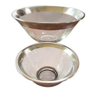 Dorothy Thorpe Silver Rimmed Chip & Dip Bowl Set