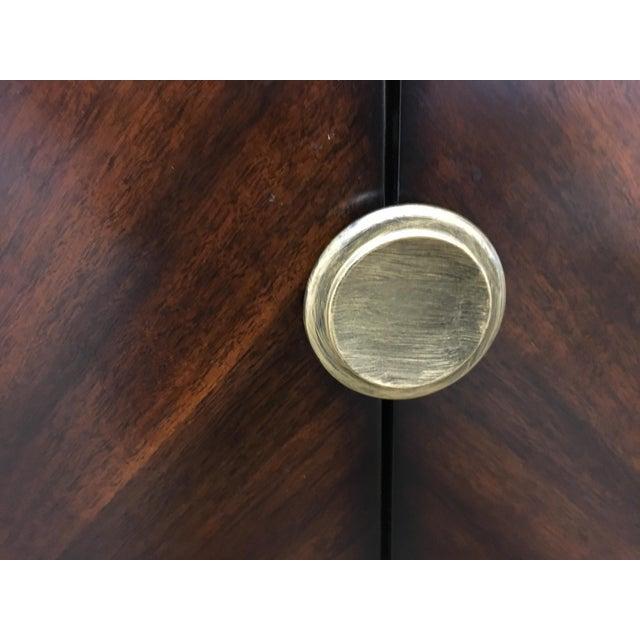 Sleek Funky Herringbone Wooden Sideboard For Sale - Image 5 of 9