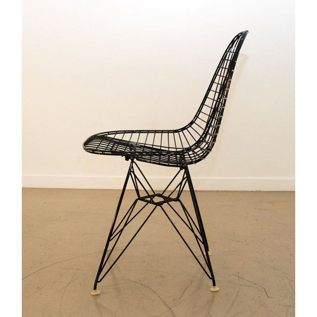 Black Original Eames Wire Chairs - Set of 4 For Sale - Image 7 of 7