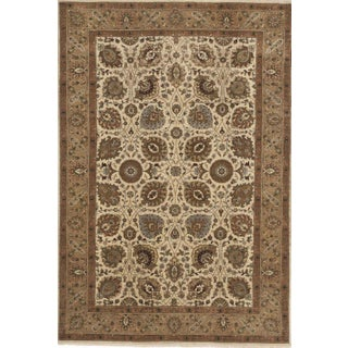 """Hand-Knotted Indo-Persian Rug- 5'10""""x 8'8"""" For Sale"""