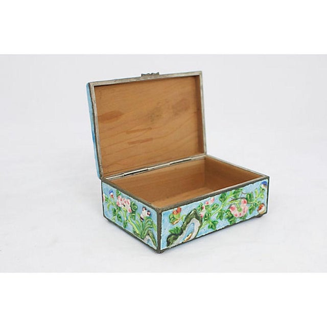 Antique Enamelware Box For Sale In Los Angeles - Image 6 of 8