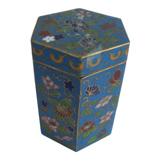 Small Cloisonné Chinoiserie Match Safe For Sale
