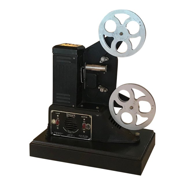 Custom Vintage Movie Projector Table Lamp For Sale